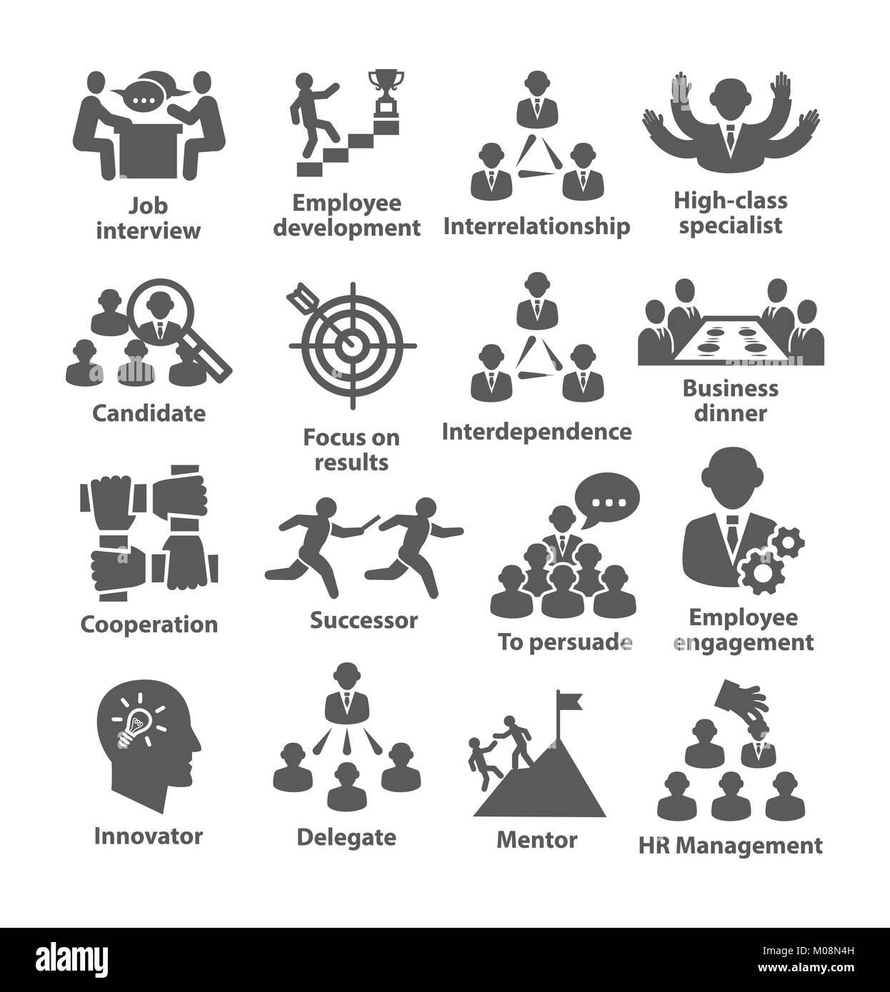 Pack 33 icônes de gestion d'entreprise Photo Stock
