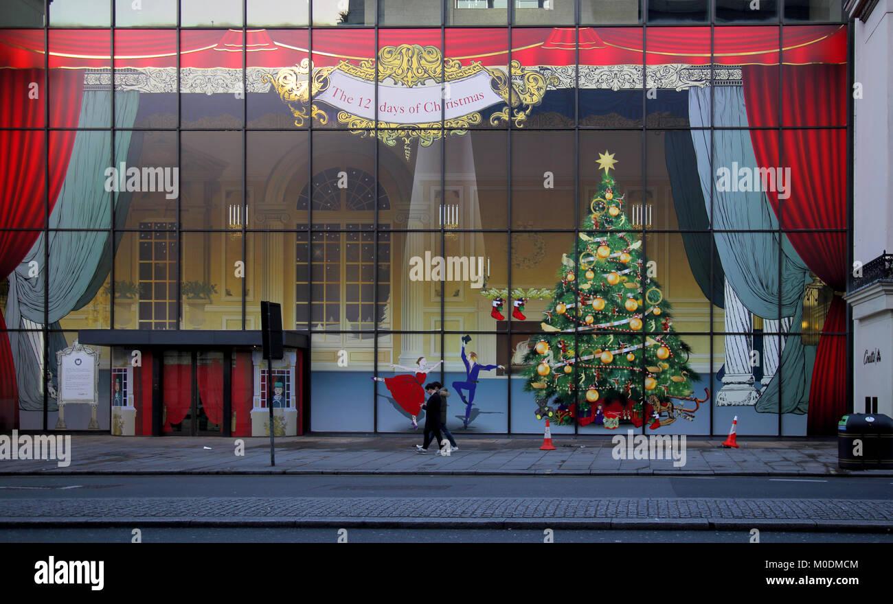 Noël à Coutts Bank dans le strand Londres Banque D'Images