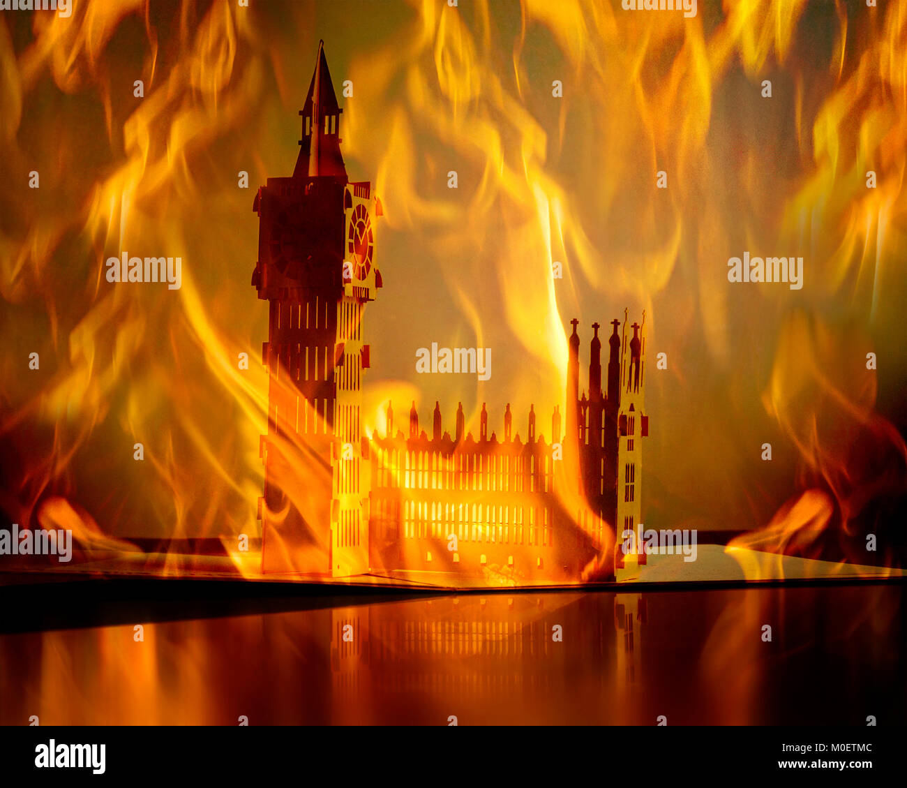 CONCEPT PHOTGRAPHY : London's Burning Photo Stock