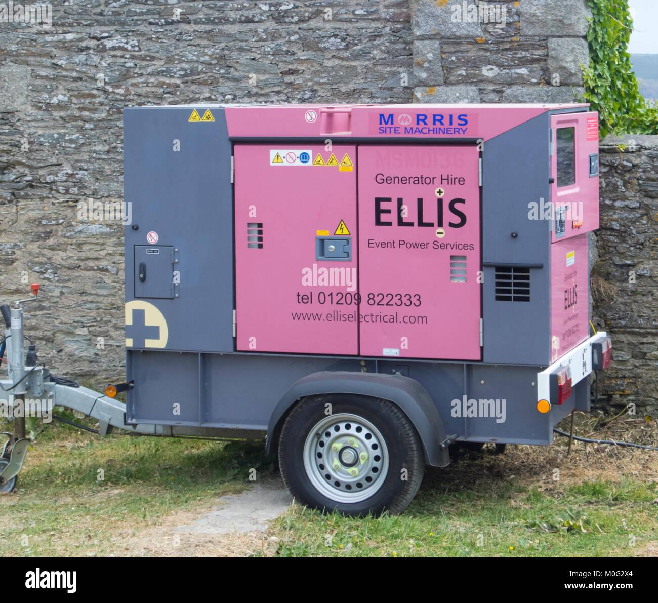 Montés sur remorque Diesel génératrice portative, UK Photo Stock f9df92067e2d