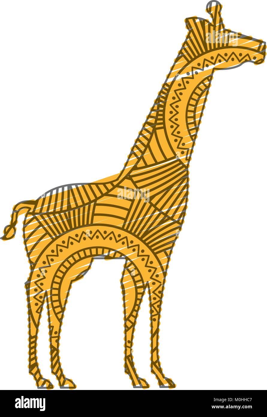 Coloriage Adulte Girafe.Faites A La Main Pour Des Profils Coloriage De Girafe Avec