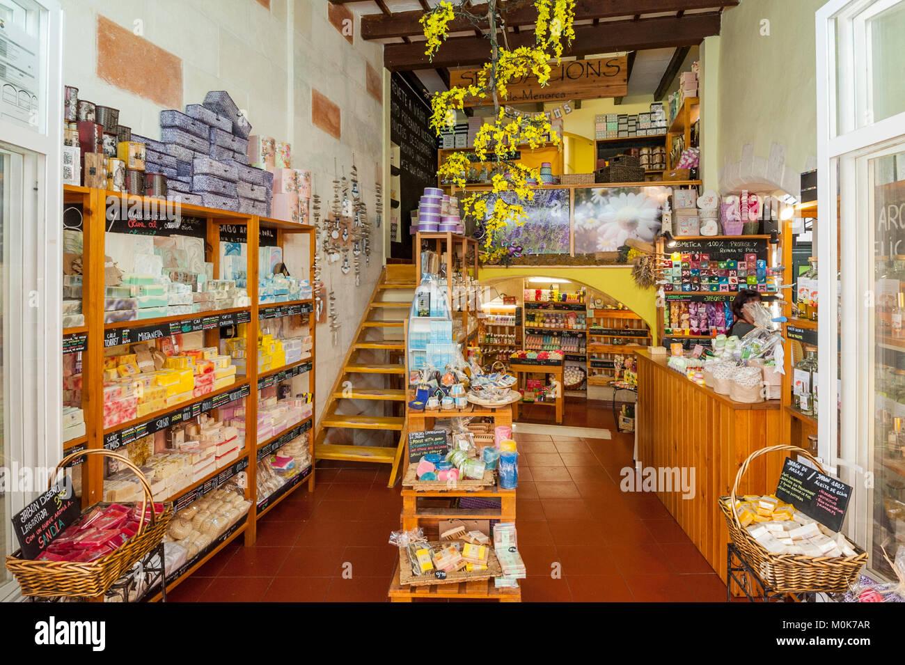 Un magasin de savon à ciutadella de menorca , Menorca , Baléares , Espagne 21d44815e1b5