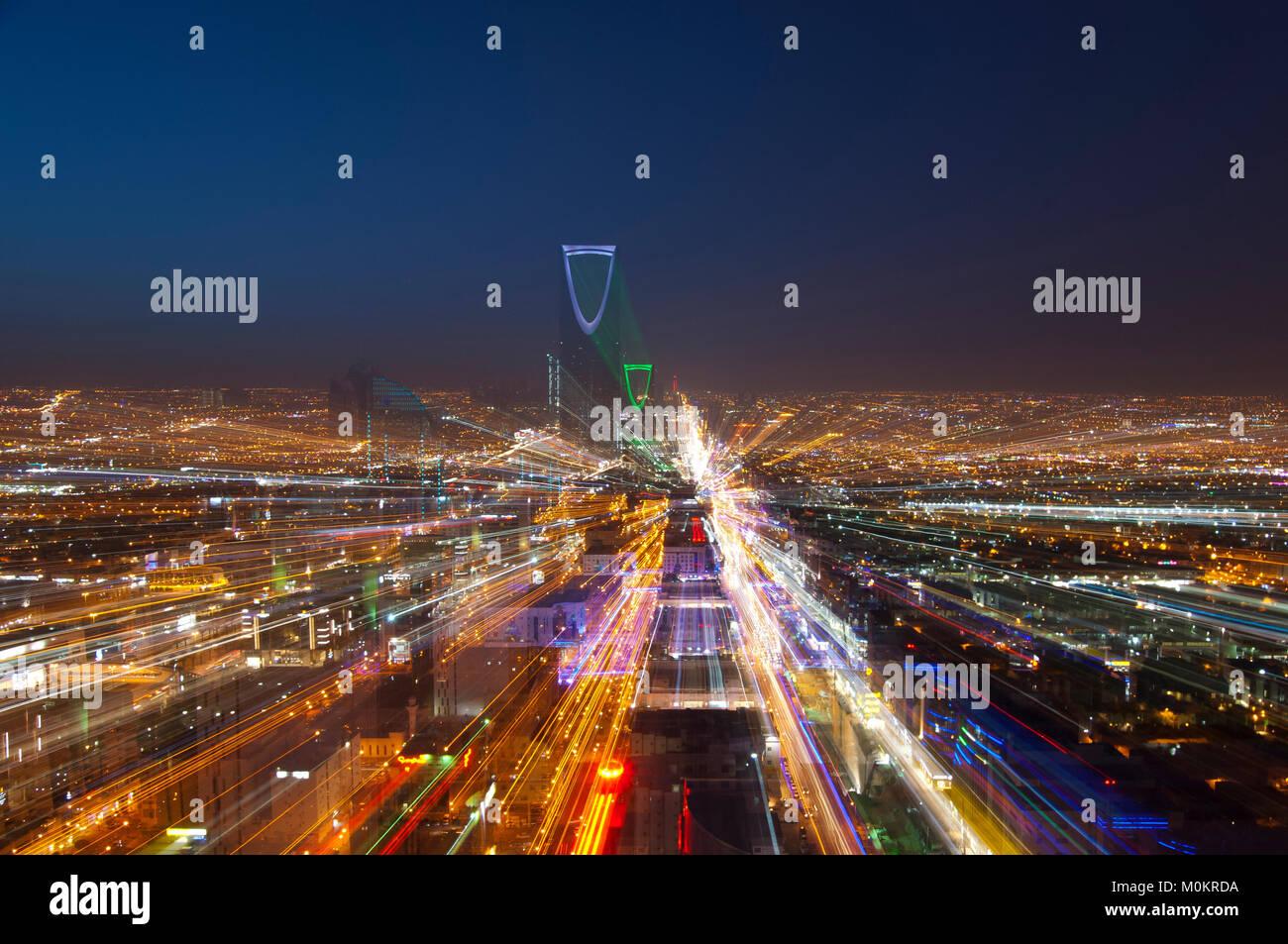 Riyadh skyline at night #5 Photo Stock