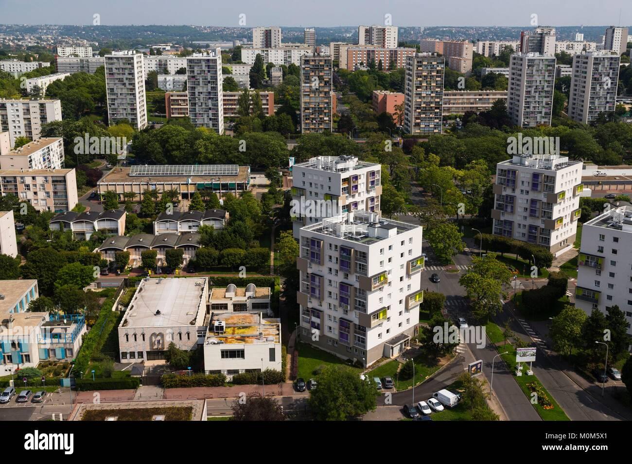france,val de marne,mont mesly creteil,district par l'architecte