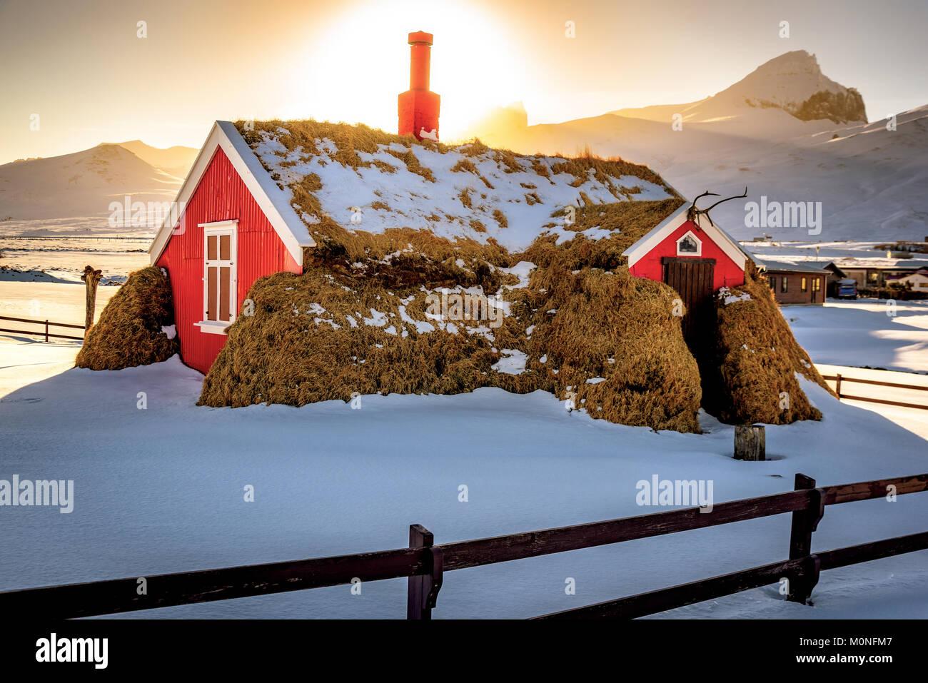 Bakkagerði, Islande. Photo Stock
