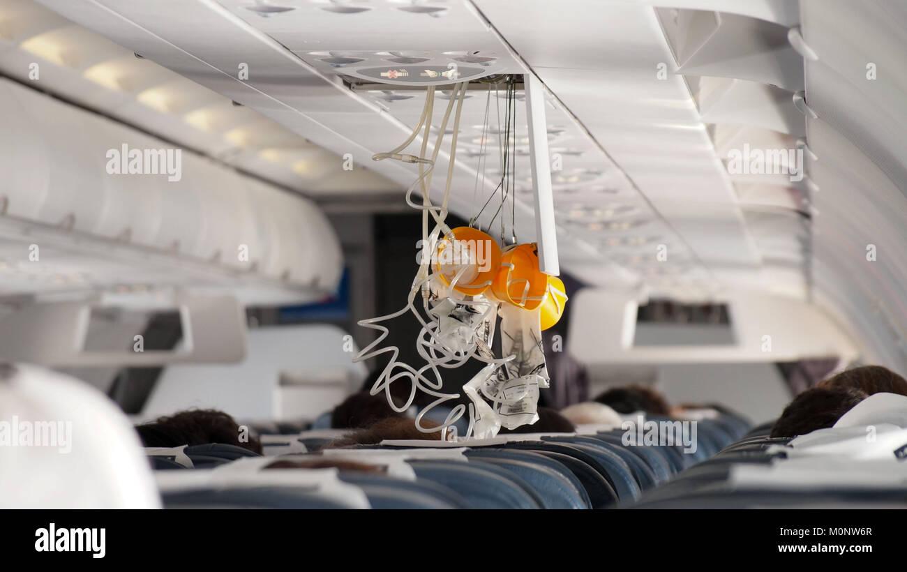 masque à oxygène avion