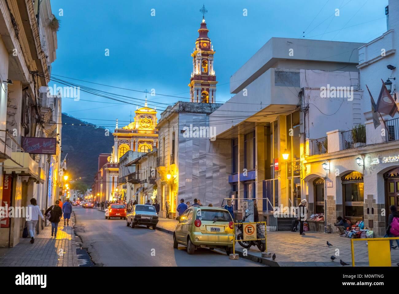 L'Argentine, la province de Salta, Salta, San Francisco church Photo Stock