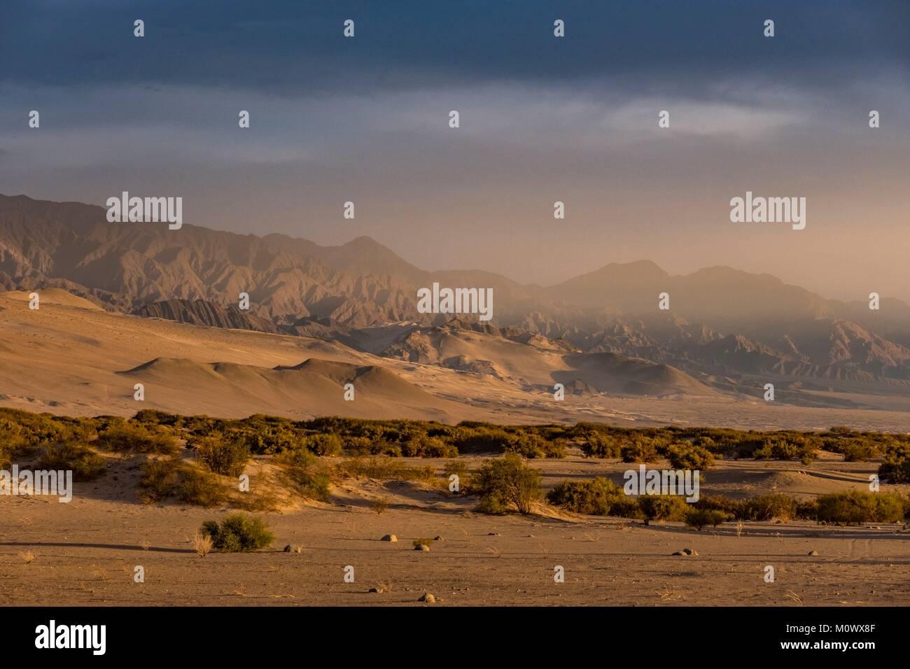 Argentine, Province de Catamarca,Taton,dunes autour de Fiambala Photo Stock