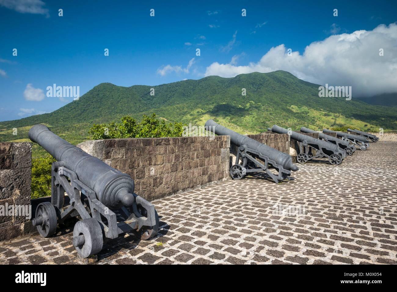 Saint Kitts et Nevis, St. Martin,de Brimstone Hill,la forteresse de Brimstone Hill Banque D'Images