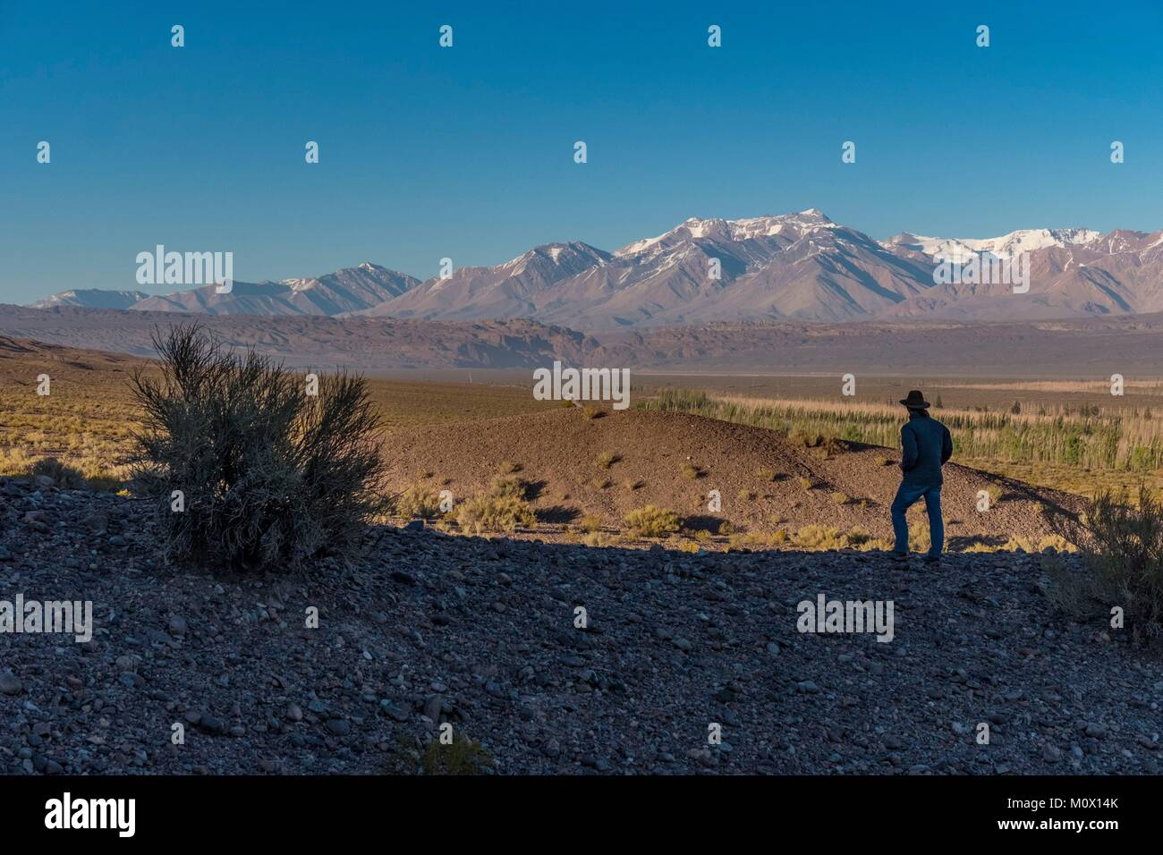L'Argentine, la Province de San Juan,Calingasta,Ministère de la Cordillère Barreal Photo Stock