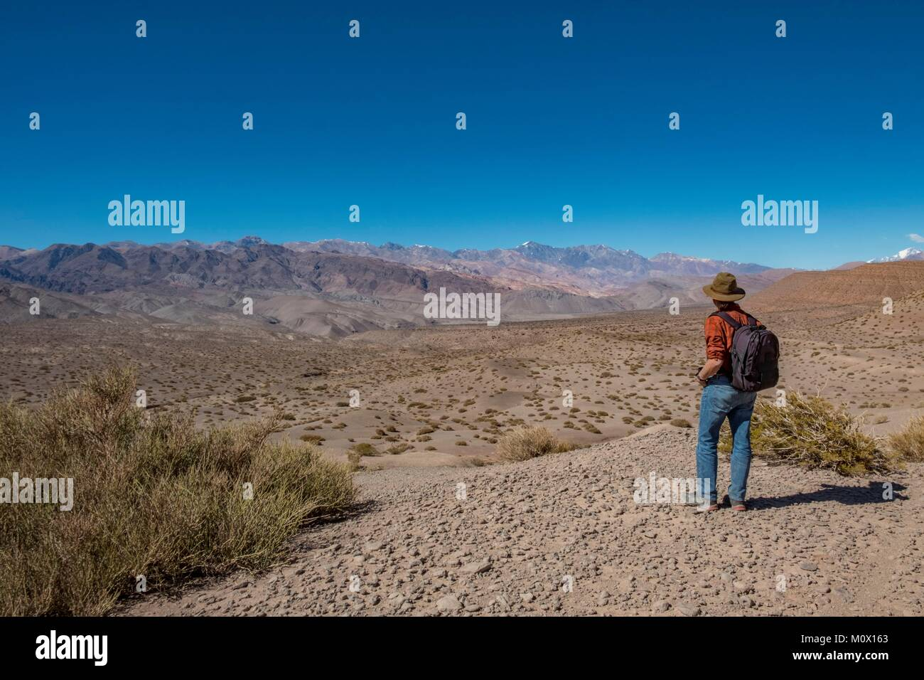 L'Argentine, la Province de San Juan,Barreal, Rio de Los Patos valley Photo Stock