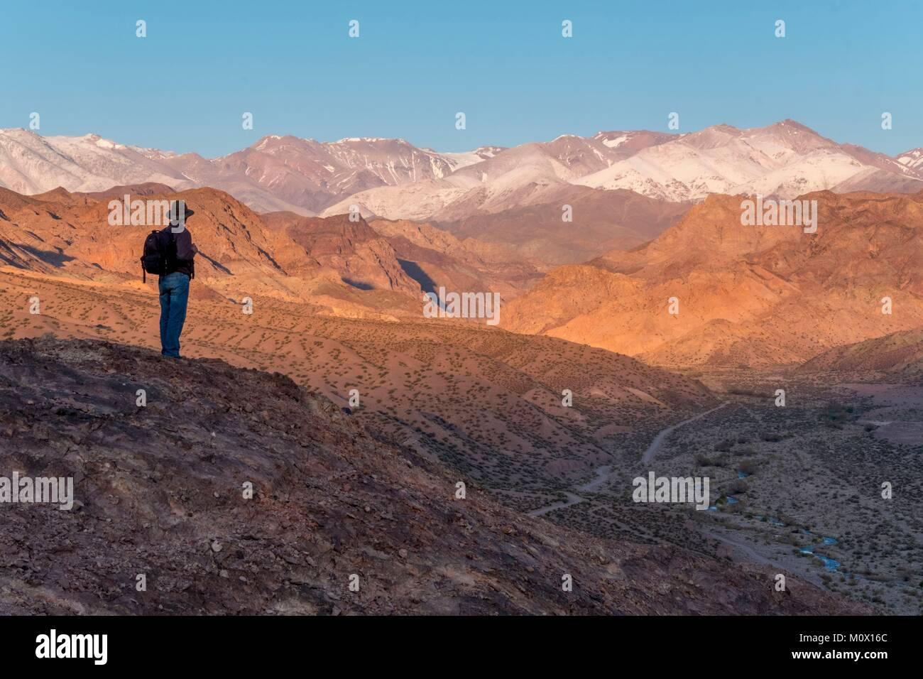 L'Argentine, la province de San Juan,Calingasta Calingasta valley,Rio Photo Stock