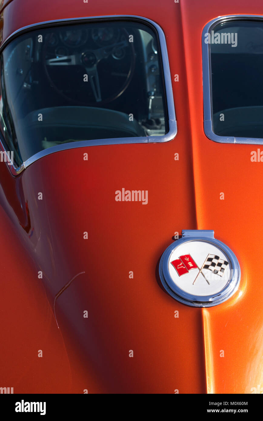 1963 Chevrolet Corvette stingray. Classic American sports car Banque D'Images