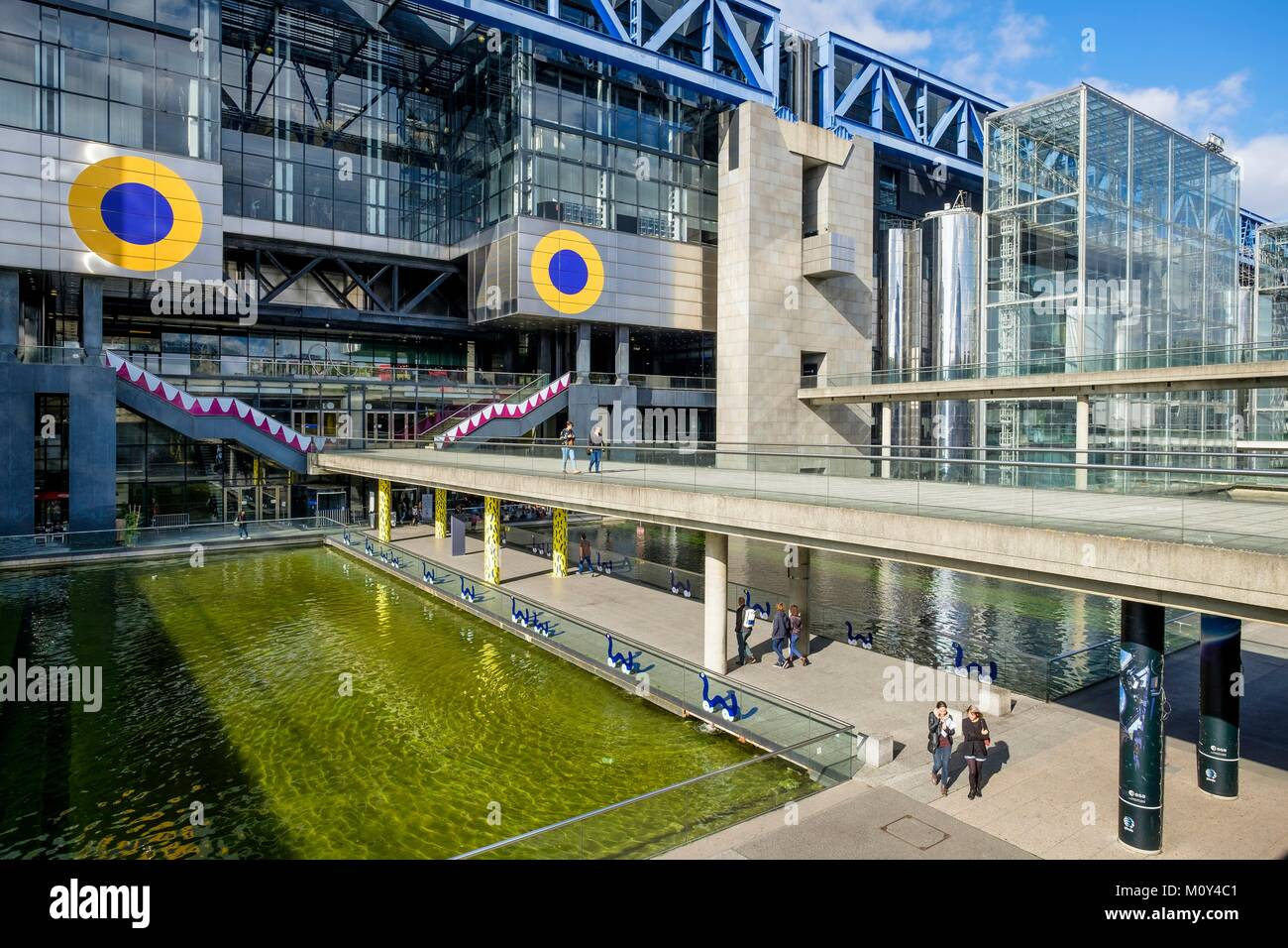 France,Paris,Parc de La Villette, Cité des Sciences et de l'industrie par l'architecte Adrien Fainsilber Photo Stock