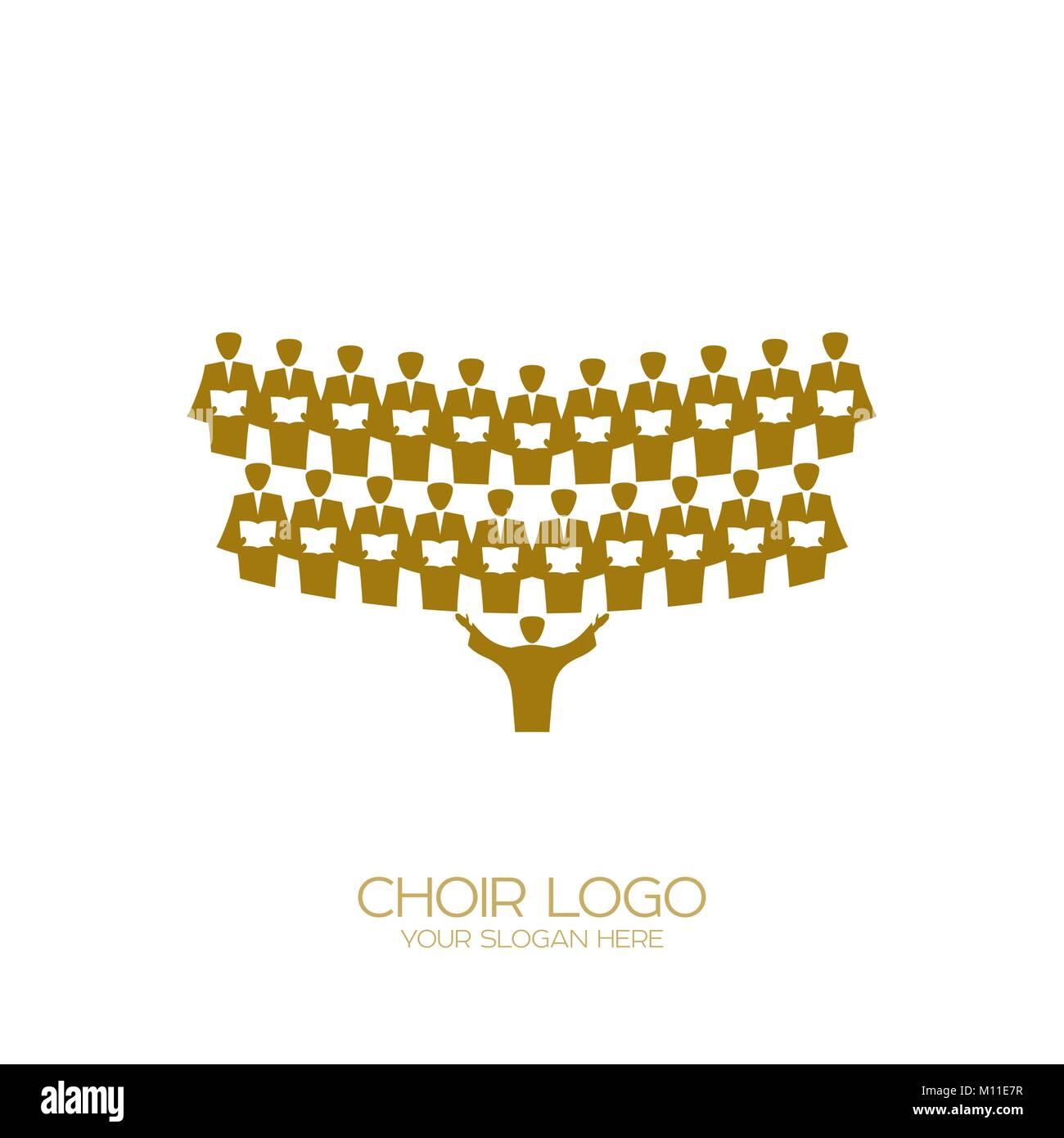 Logo De La Musique Le Chant Chorale Vecteurs Et Illustration Image