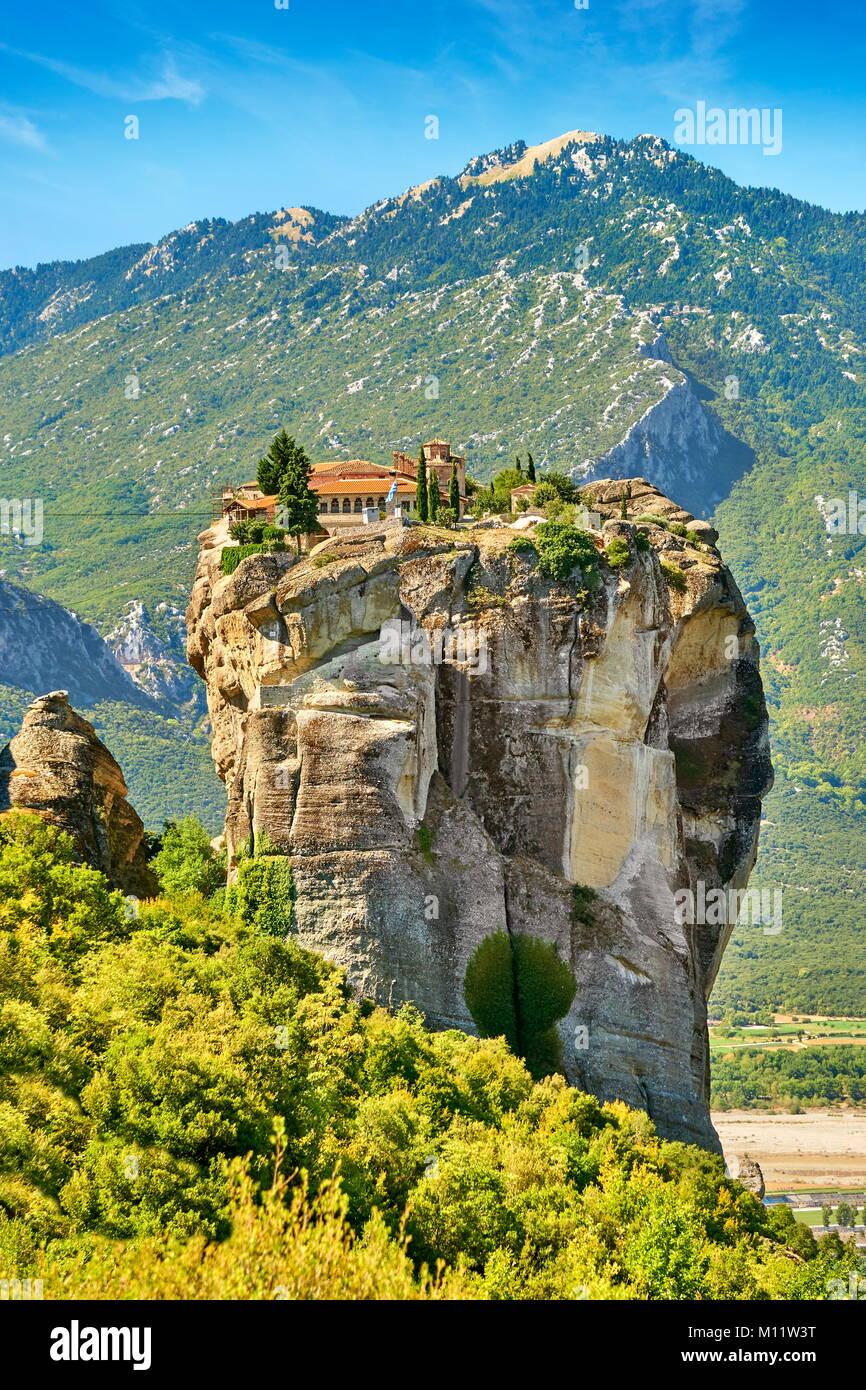Monastère de la Sainte Trinité, Météores, Grèce Photo Stock
