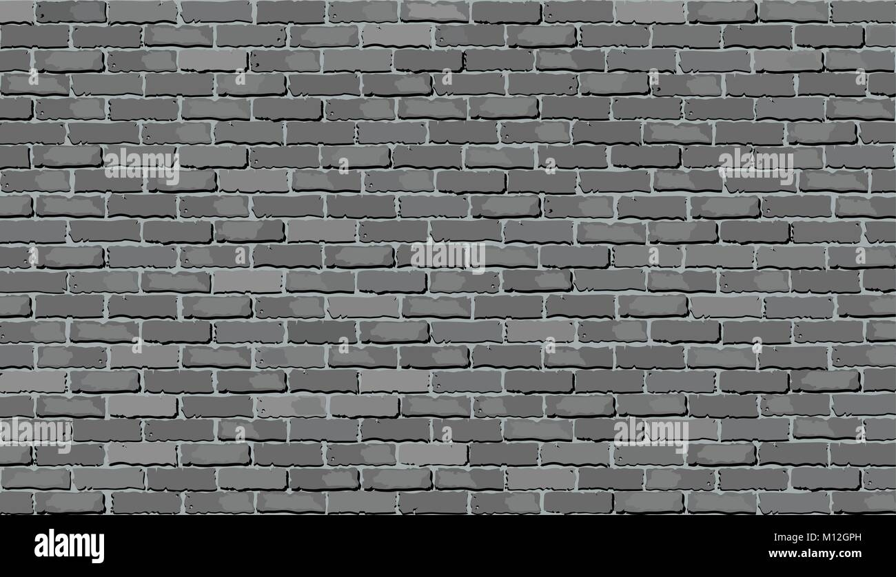 mur de brique gris illustration nuances de gris mur vector r aliste et mur de brique de. Black Bedroom Furniture Sets. Home Design Ideas
