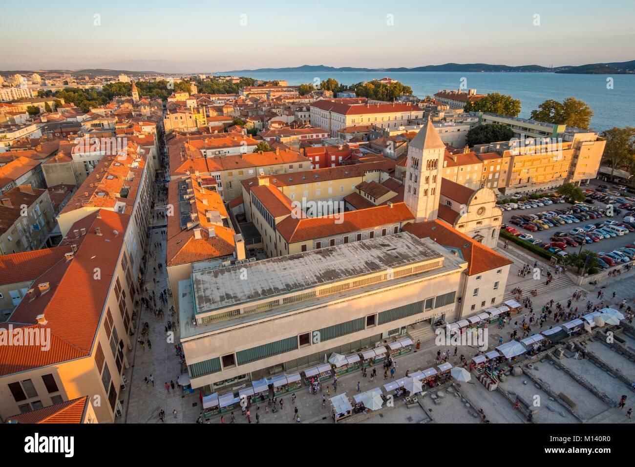 La Croatie, Dalmatie du Nord, de la côte dalmate, Zadar, vieille ville historique Photo Stock