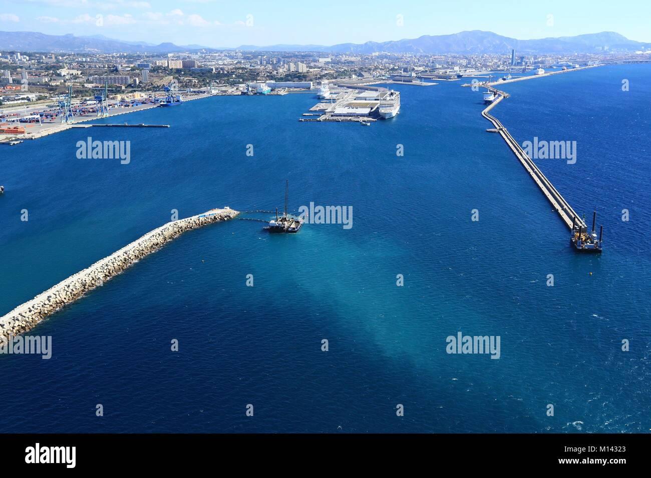 France bouches du rh ne marseille l 39 estaque quartier grand port maritime de marseille l on - Adresse du port de marseille ...