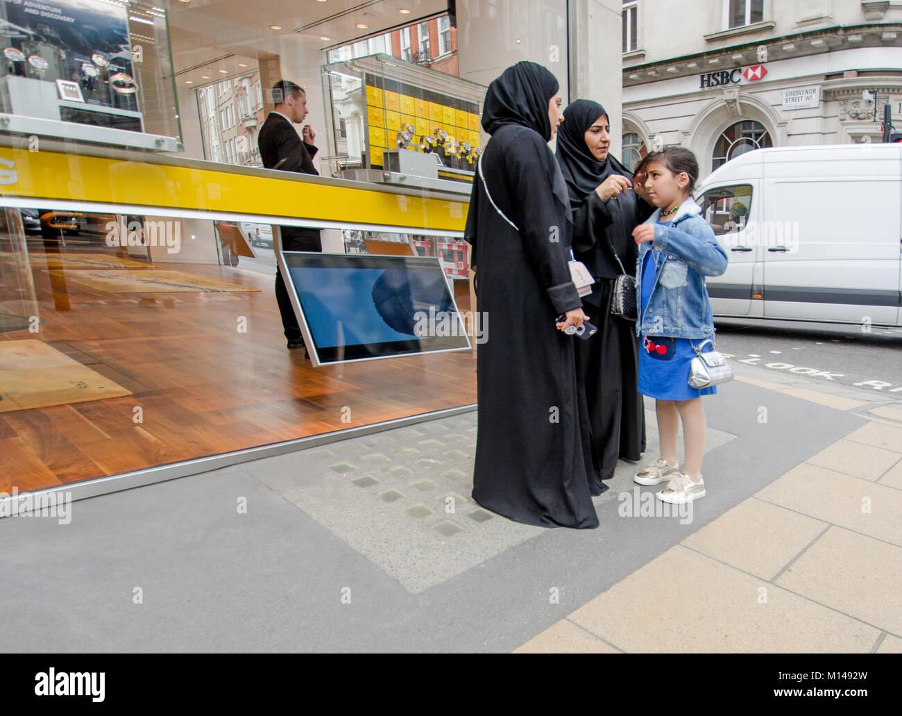 Londres angleterre royaume uni famille femmes musulmanes et de la jeune