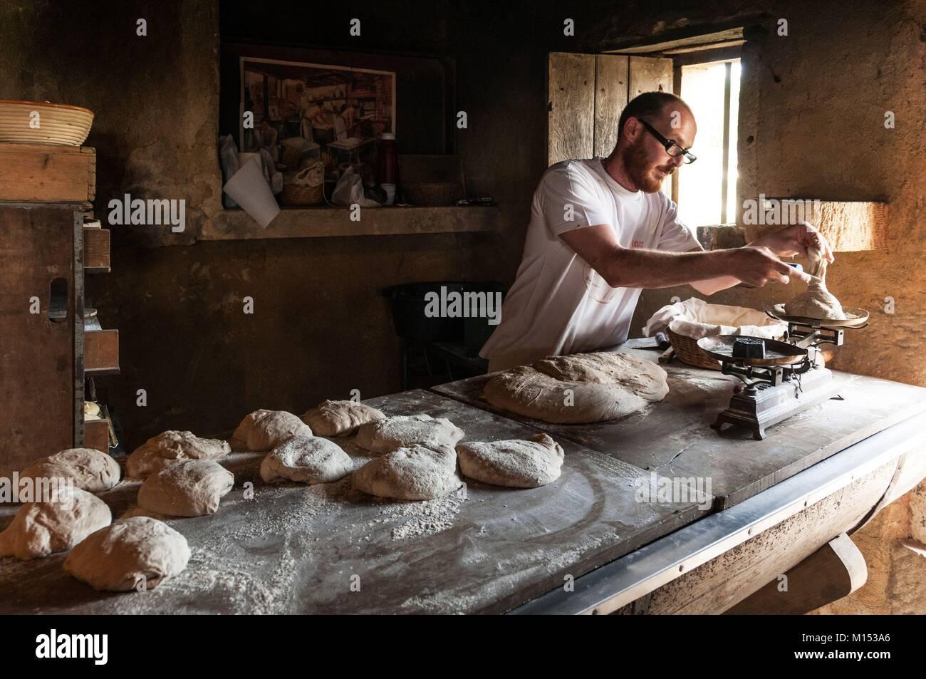La France, la Meuse, Les Vieux Métiers d'Azannes dans village de campagne, (ancien) jours d'artisanat Photo Stock