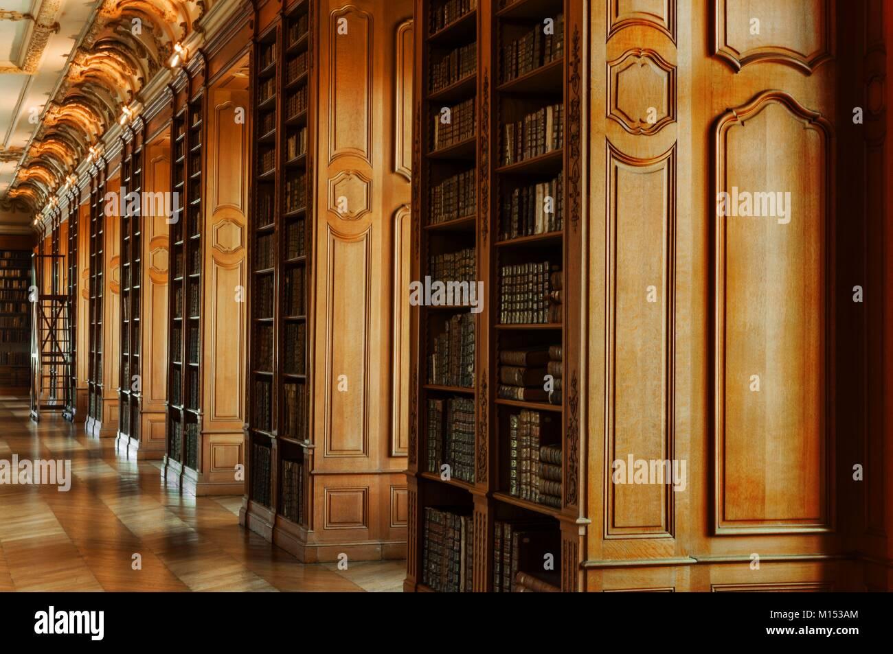 La France, la Meuse, Saint Mihiel, Bibliothèque Bénédictine (1775) Photo Stock