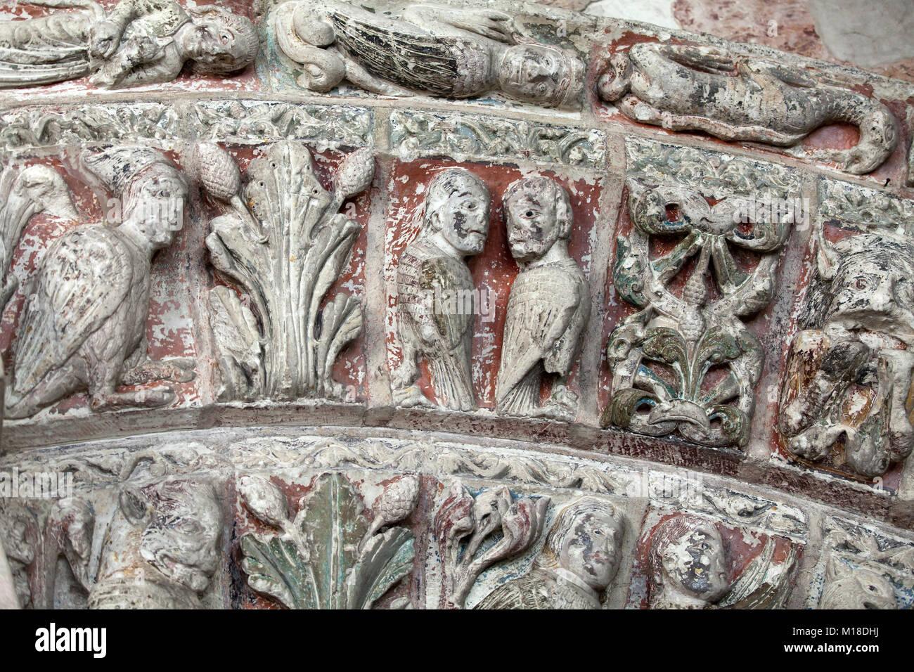 Collégiale St-Ours à côté de château de Loches. Vallée de la Loire France Photo Stock