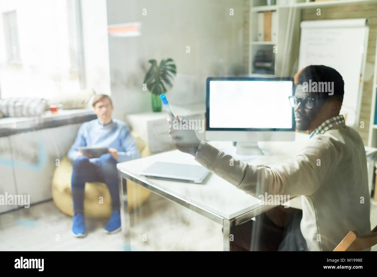 Professionnels en Web Studio Banque D'Images