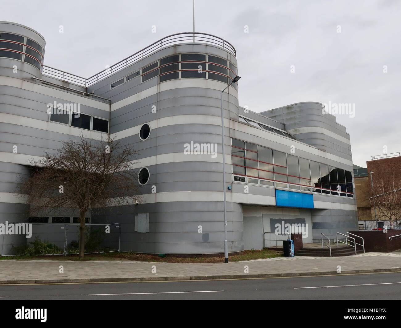 Cinéma Odéon fermé et abandonnés sur les grands's Corner à Ipswich, Suffolk. Le cinéma Photo Stock