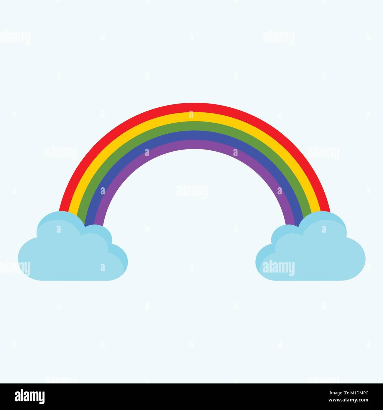 Nuage arc en ciel mignon vecteur illustration graphisme dessin vecteurs et illustration image - Nuage en dessin ...