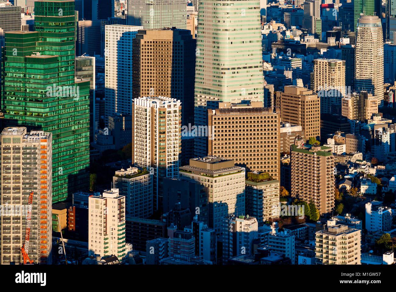 Les immeubles de bureaux Vue sur la ville Photo Stock