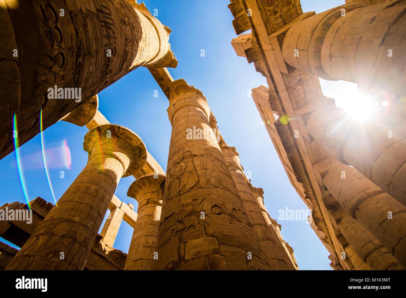 Le temple de Karnak à Louxor Egypte Janvier 2018 Banque D'Images