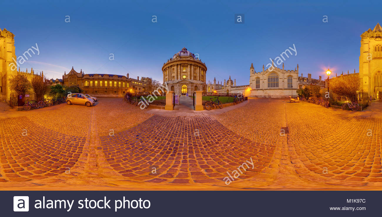 Radcliffe Camera, Église de l'Université de Saint Mary, Oxford University, UK Photo Stock