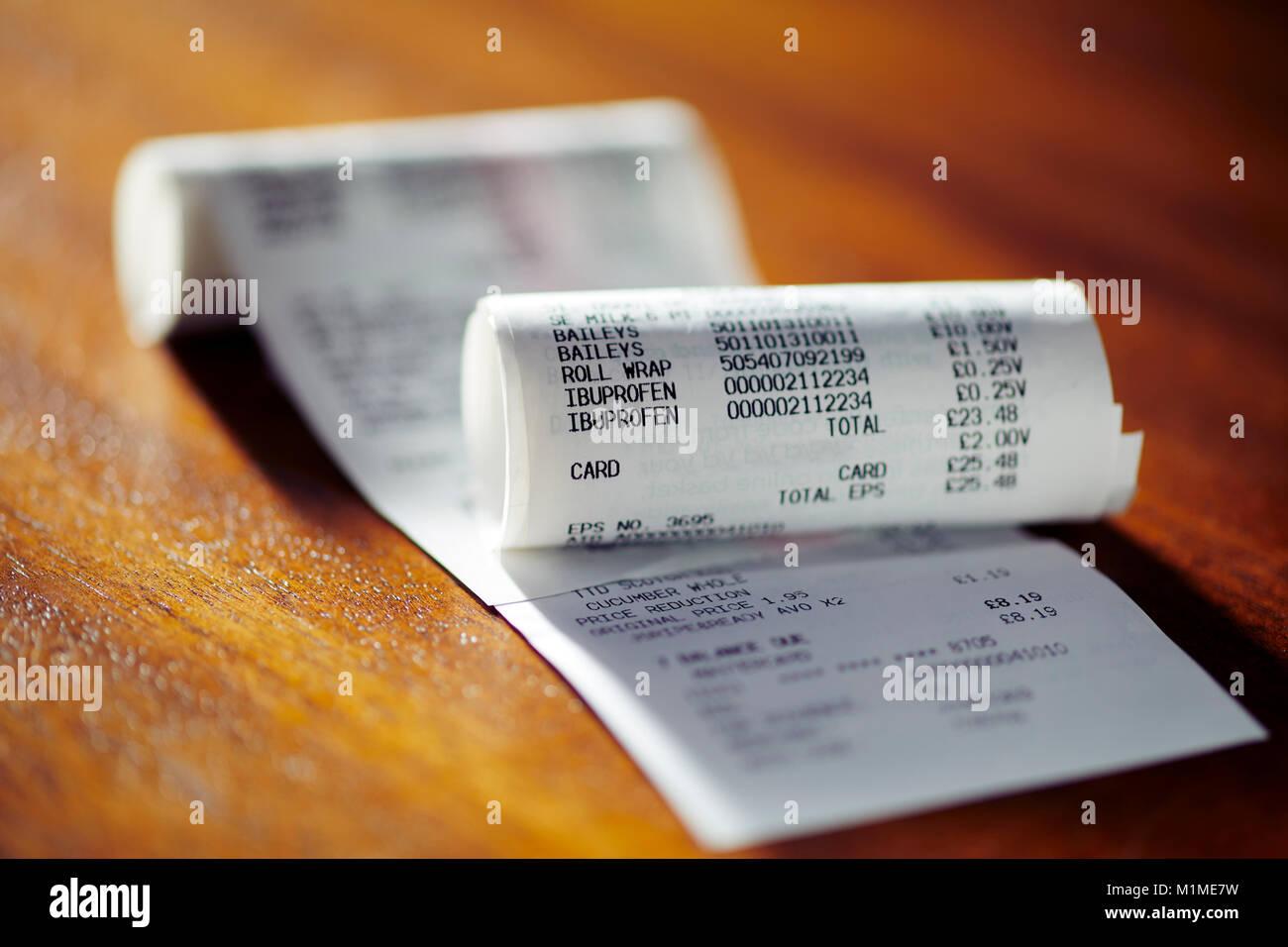 Close up de caisse Photo Stock