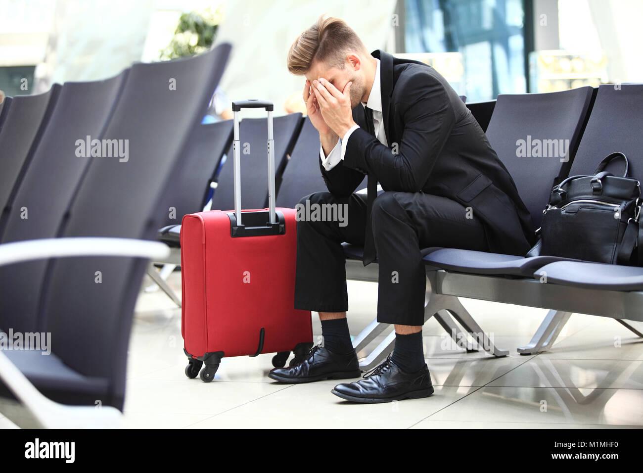 vol retardé Banque D'Images
