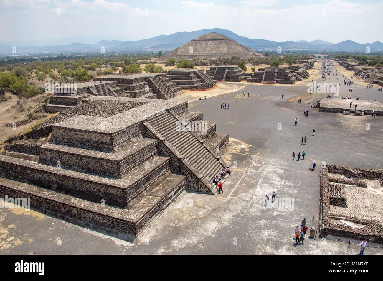 Pyramide du soleil, Teotihuacán, Mexico, Mexique Photo Stock