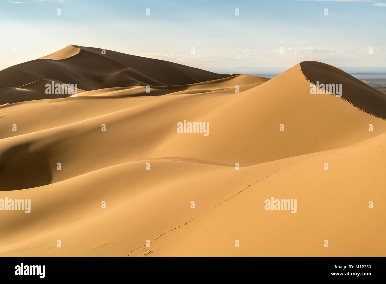Dunes de sable Khongor Gobi Gurvan Saikhan en parc national, Sevrei district, province sud de Gobi, la Mongolie, Photo Stock
