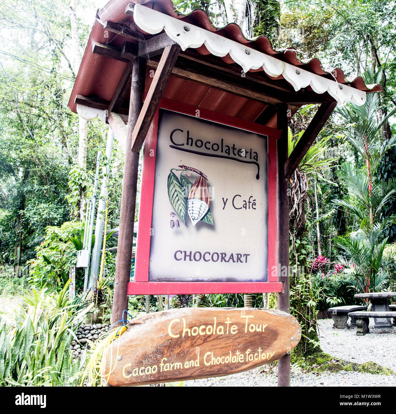 Café chocolat Puerto Viejo, Costa Rica Photo Stock