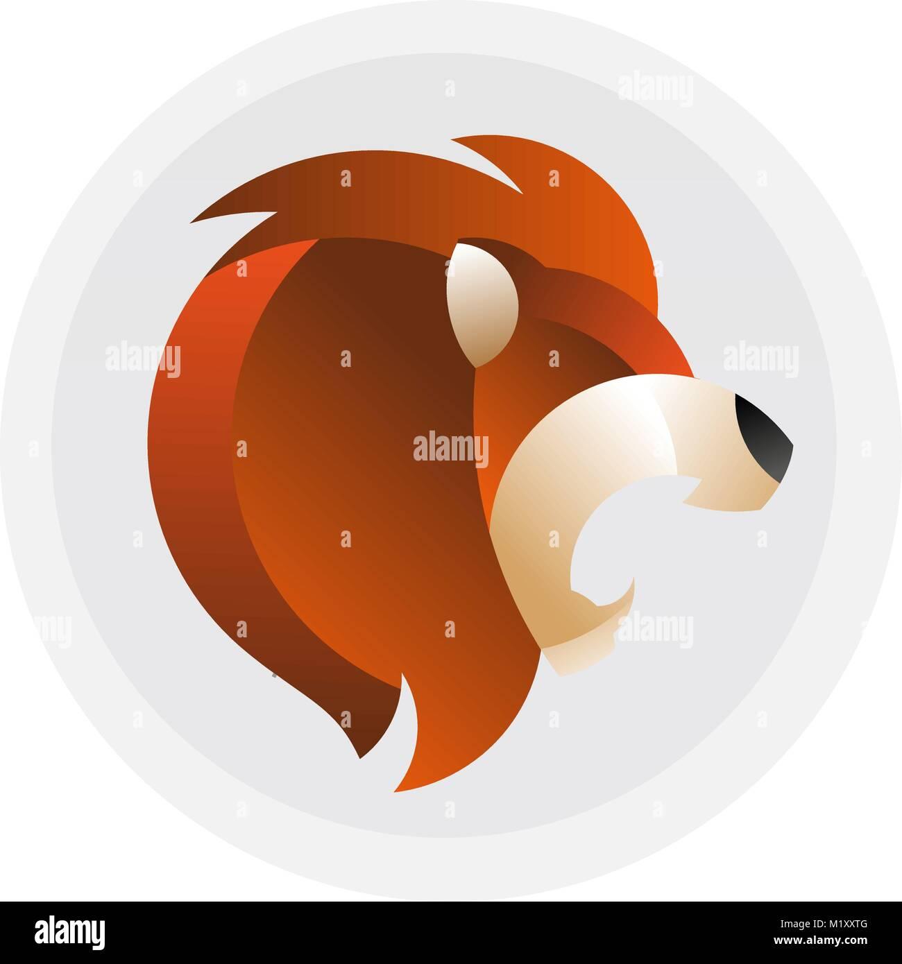 Tête De Lion Logo Vector Modèle Fierté Signe Graphique Concept