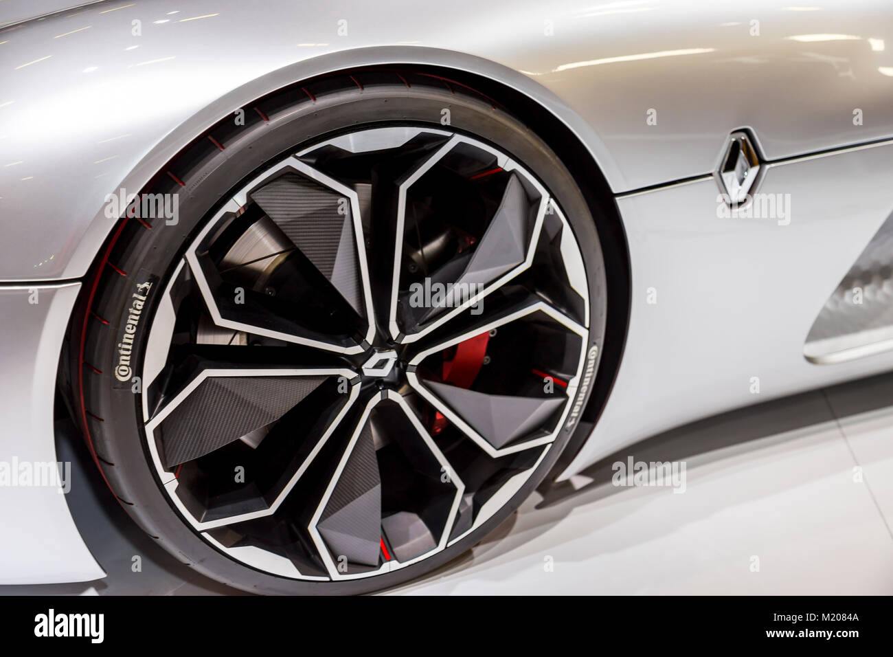 Istanbul, Turquie - 21 Avril 2017: rim vue du concept car de Renault Trezor Banque D'Images