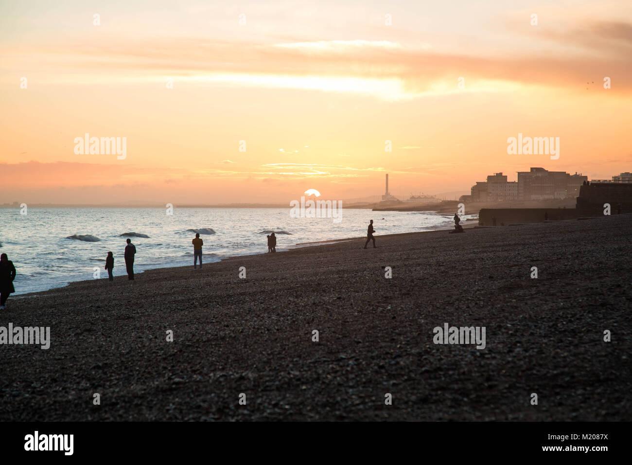 Brighton Beach Sunset et j360 Photo Stock