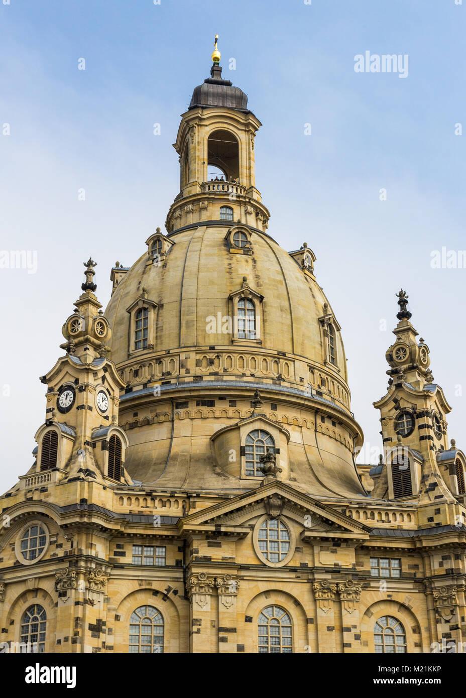 Dans l'église Frauenkirche Dresden Sachsen, heure avancée de l'Allemagne Photo Stock