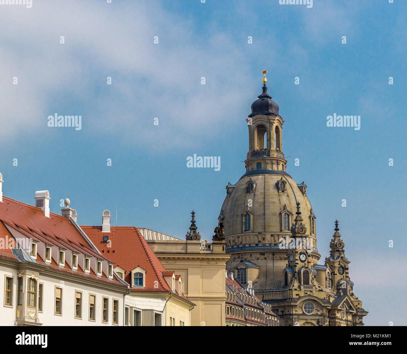 Dans l'église Frauenkirche Dresden Sachsen Allemagne Daylight Photo Stock