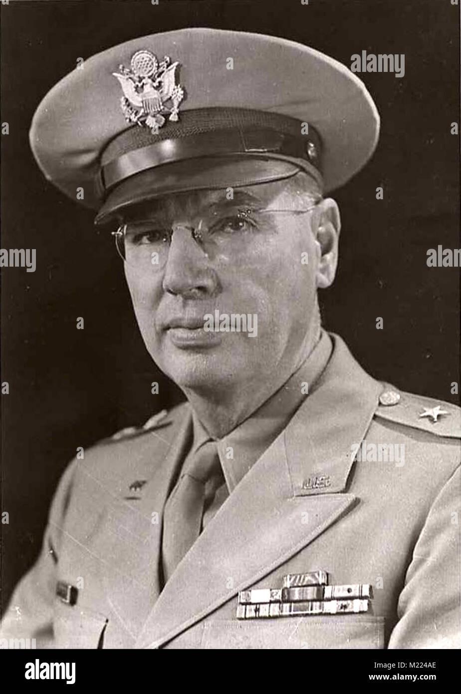 Fleming George Moore (1887 - 1949) décoré officier de l'armée des Etats-Unis avec le grade de Photo Stock