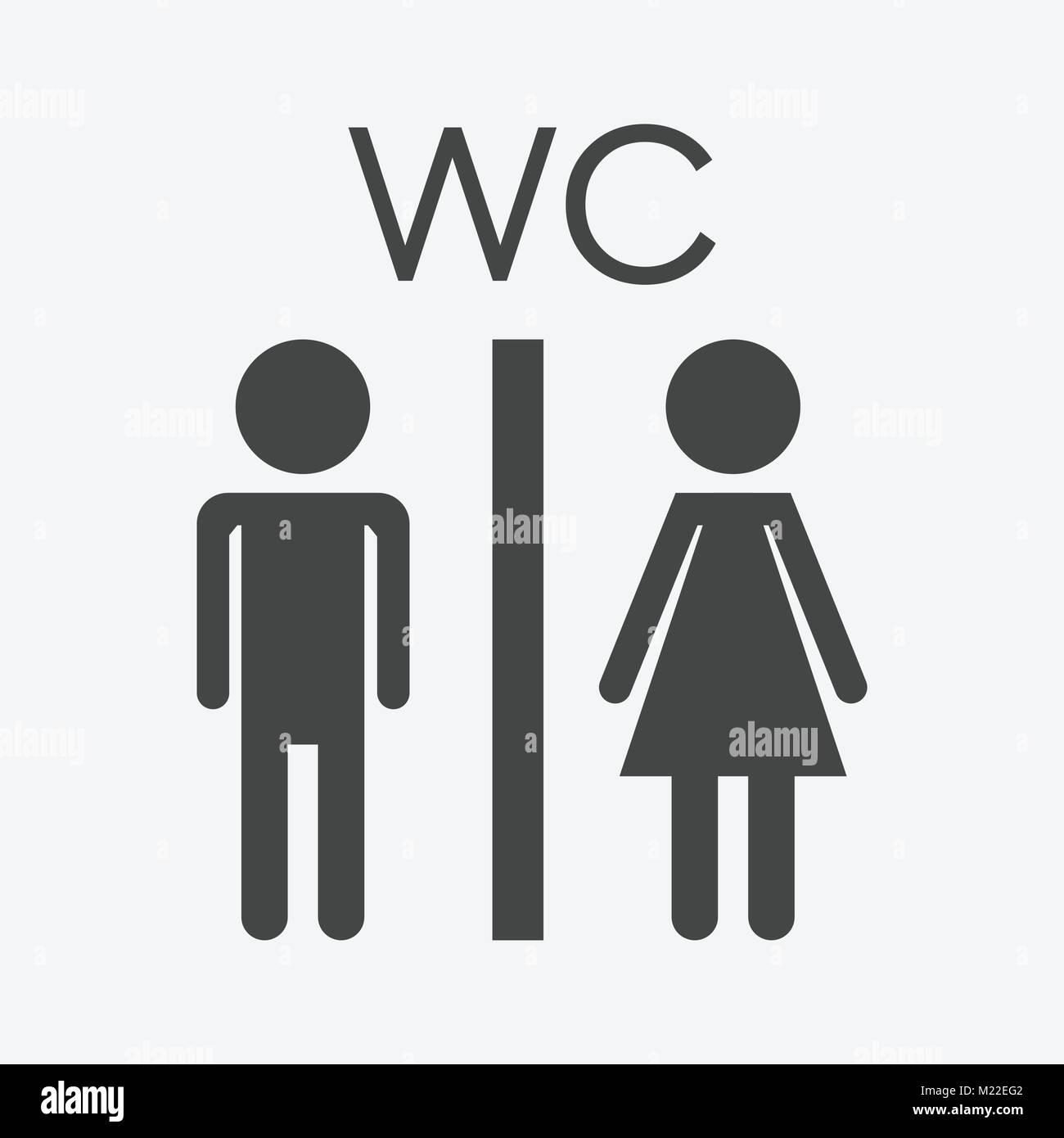 Toilettes Toilettes Vecteur Icône Sur Fond Blanc Lhomme Moderne