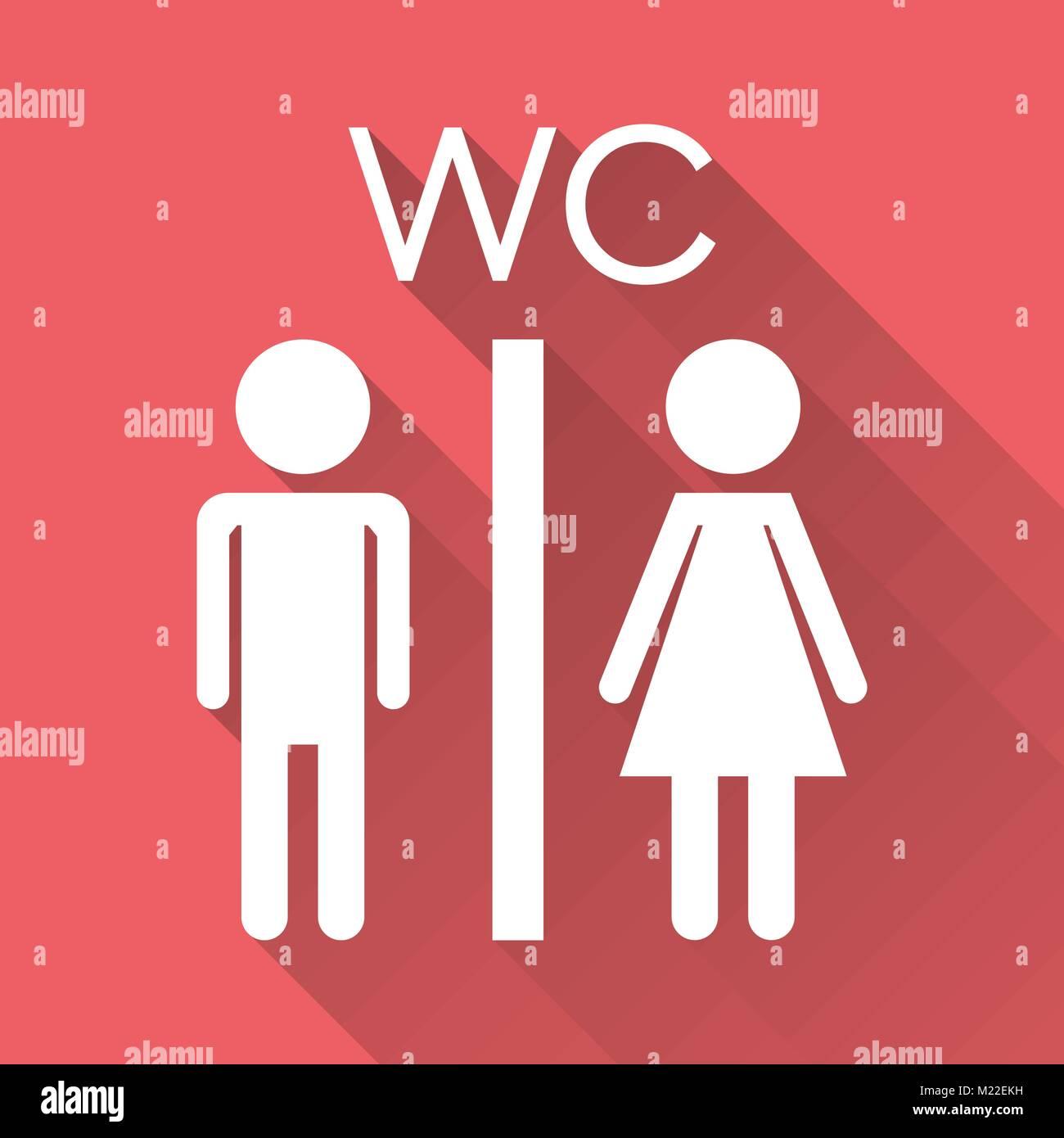 Toilettes Toilettes Vecteur Icône Sur Avec Lombre Lhomme Moderne