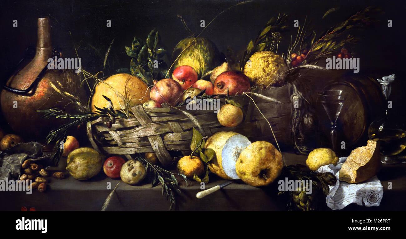Still-Life with Fruit 1650 Antonio de Pereda (1611-1678)17ème siècle, l'Espagne, l'espagnol, Photo Stock