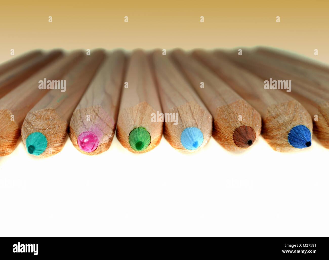 Crayons de couleur Banque D'Images