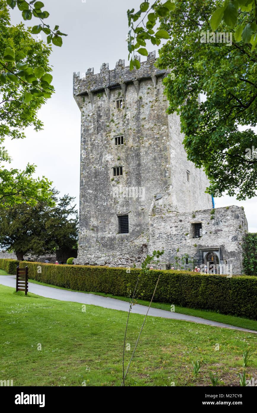 Le château de Blarney et de jardins, dans le comté de Cork, Irlande Photo Stock
