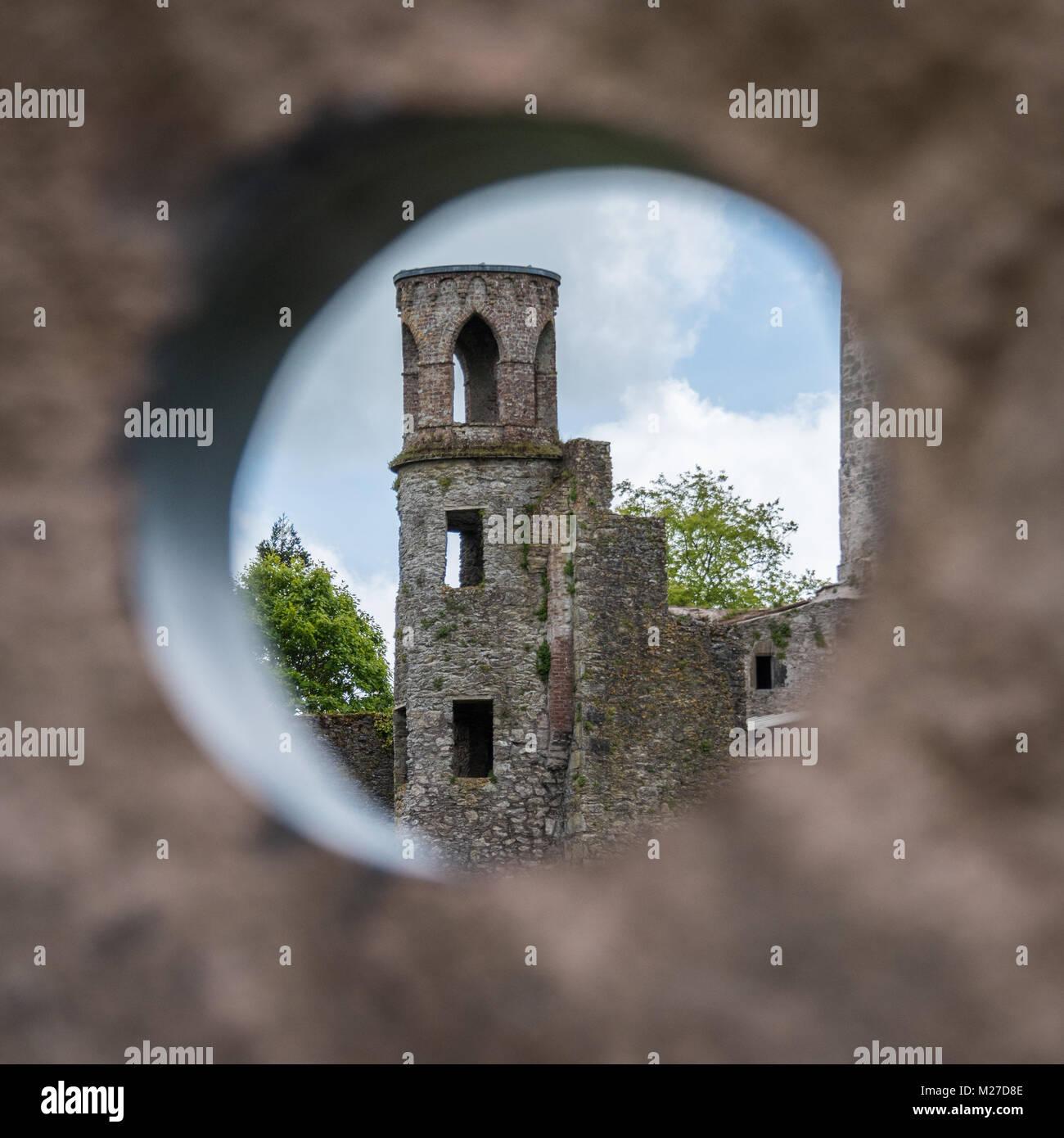 Le château de Blarney et de jardins, dans le comté de Cork, Irlande Banque D'Images